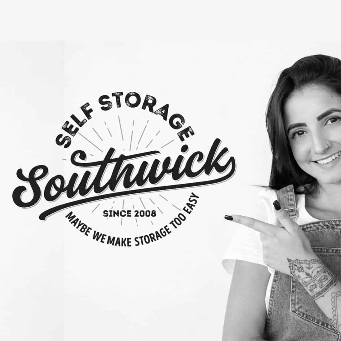 Girl Pointing at Southwick Storage
